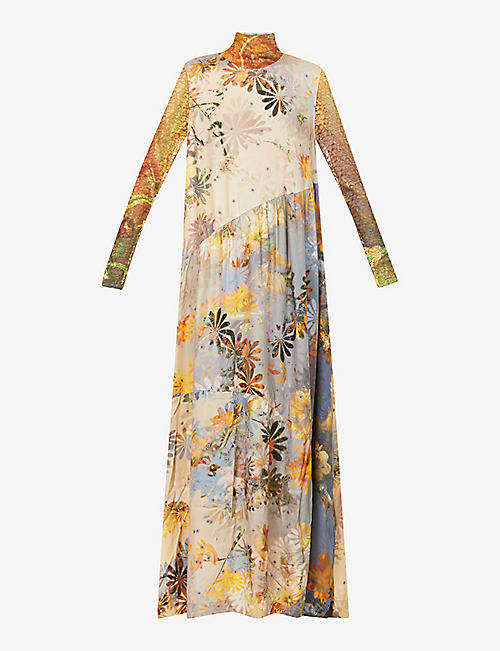 COLLINA STRADA: Ritual floral-print recycled-cellulosic maxi dress