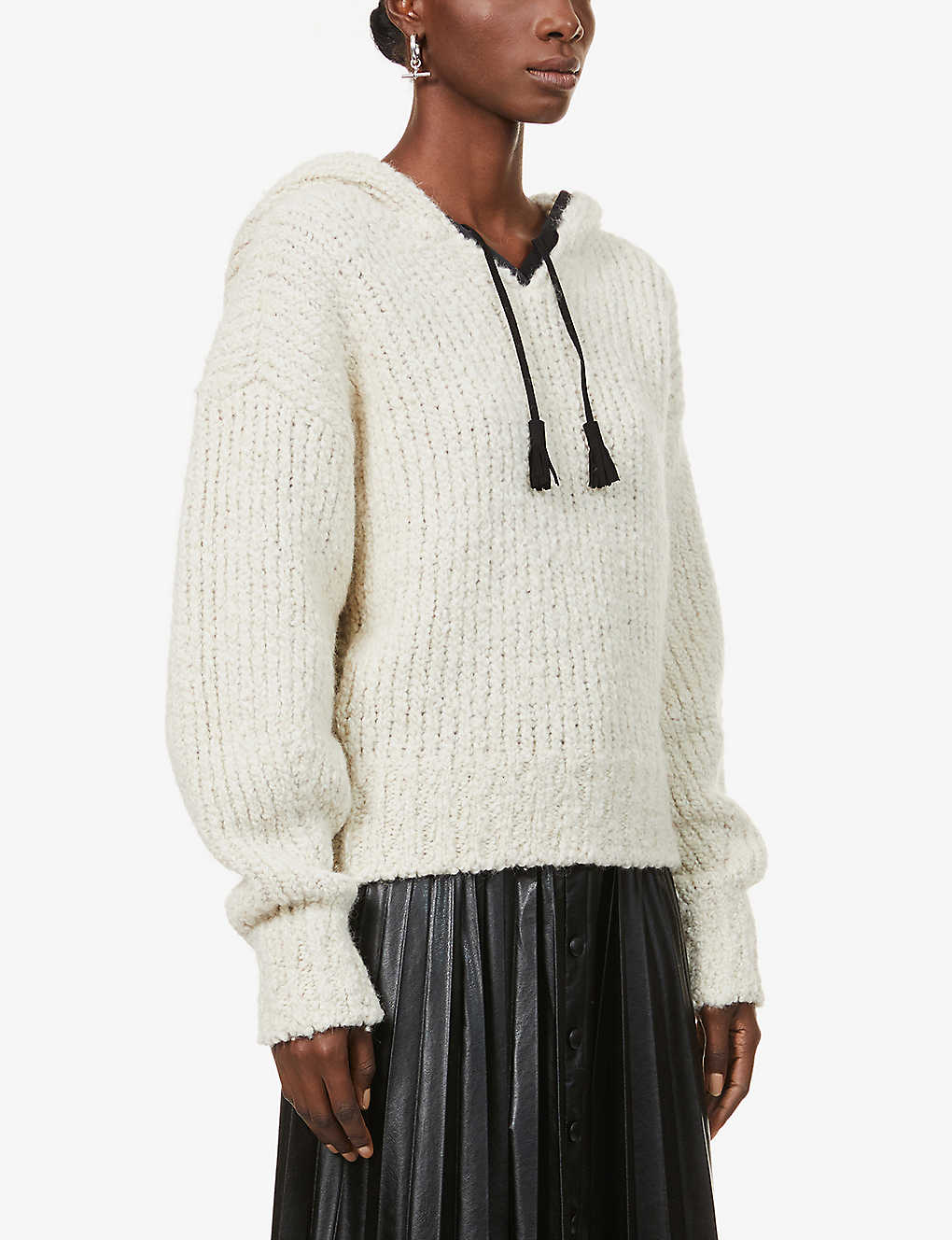 ISABEL MARANT: Eleana hooded knitted jumper