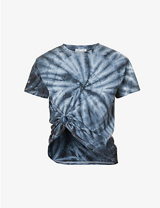 COLLINA STRADA: Ring-detail tie-dye cotton-jersey T-shirt