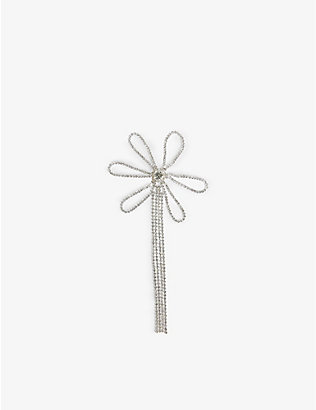 COLLINA STRADA: Flower single crystal brooch