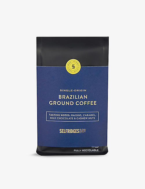 SELFRIDGES SELECTION: Single Origin Brazilian Fazenda ground coffee 250g