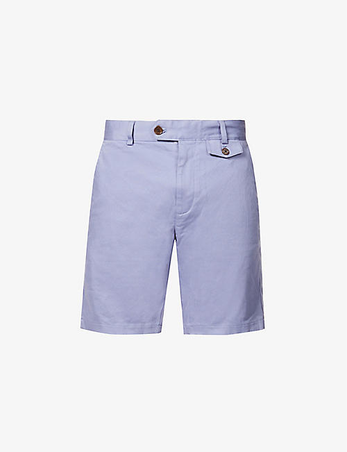 FAR AFIELD: Tricker straight cotton-twill shorts