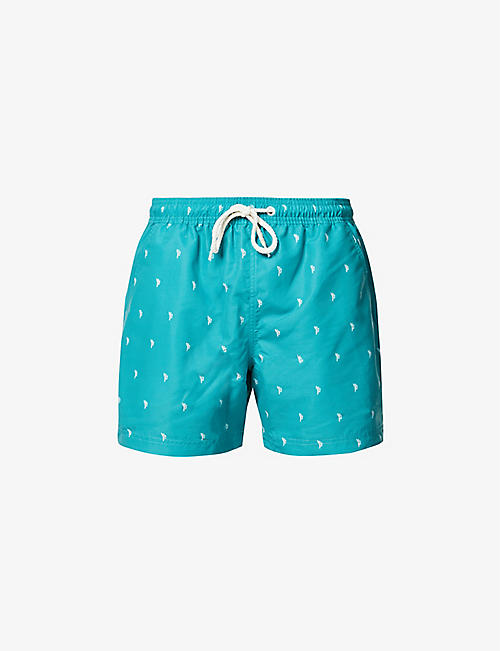FAR AFIELD: Far Afield x Selfridges cactus-print recycled plastic swim shorts