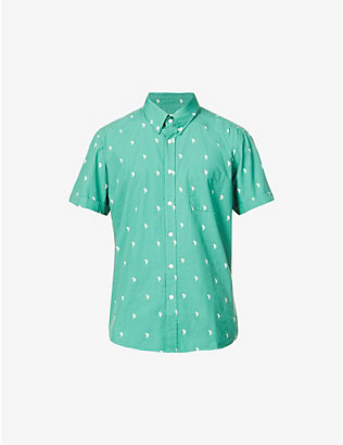 FAR AFIELD: Cactus-print cotton shirt