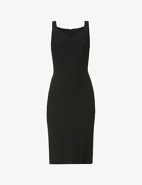 ALEXANDER MCQUEEN: Sweetheart neckline crepe mini dress