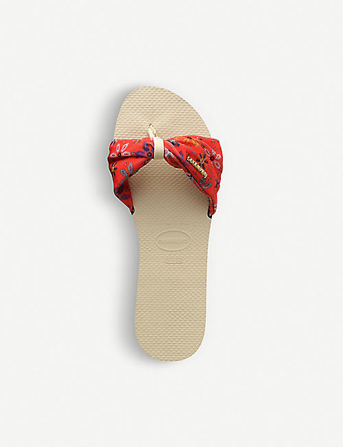 HAVAIANAS You Saint Tropez rubber and grosgrain sliders