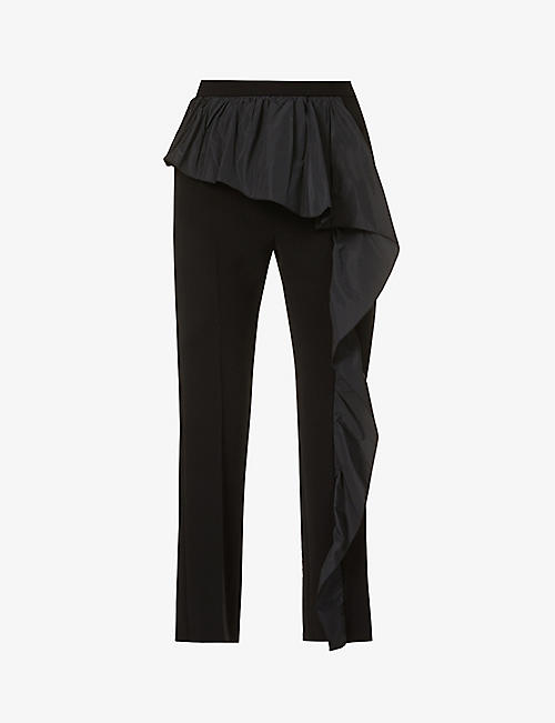 MAX MARA ELEGANTE: Etna straight high-rise crepe trousers