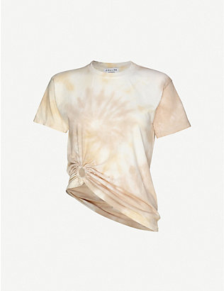 COLLINA STRADA: Ring tie-dye cotton top