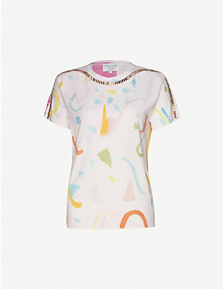 COLLINA STRADA: Sporty Spice tie-dye cotton-jersey T-shirt