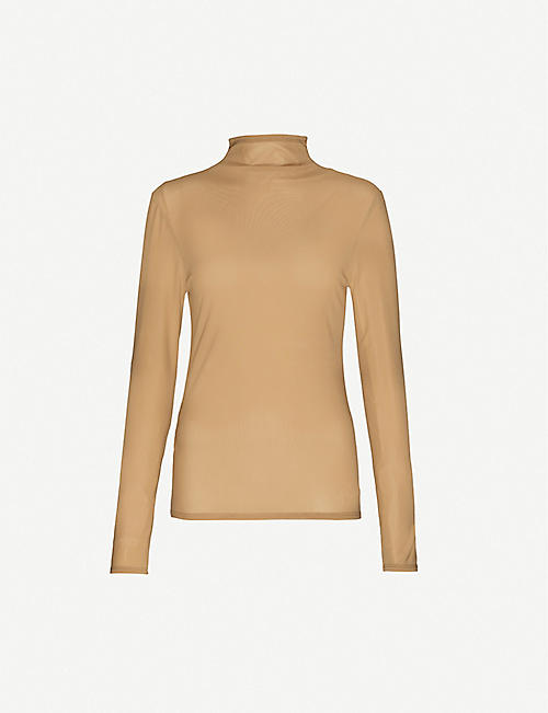 COLLINA STRADA: Cardio World high-neck woven top