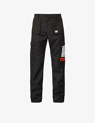 HERON PRESTON: Heron Preston x CAT straight shell trousers