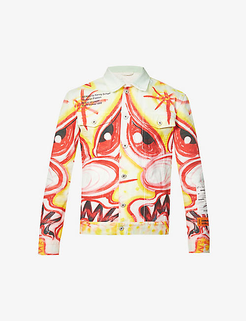 HERON PRESTON: Kenny Scharf graphic-print denim jacket
