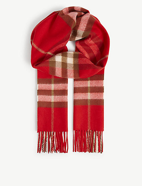 BURBERRY: Classic checked cashmere scarf