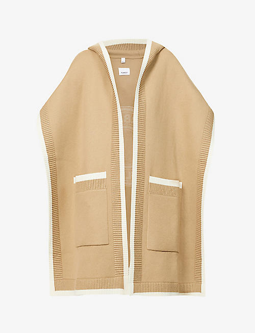 BURBERRY: Carla hooded wool-blend cape