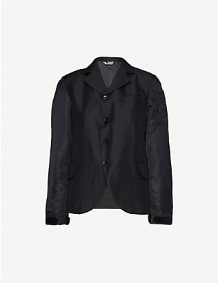 BLACK COMME DES GARCON: Button-down shell blazer