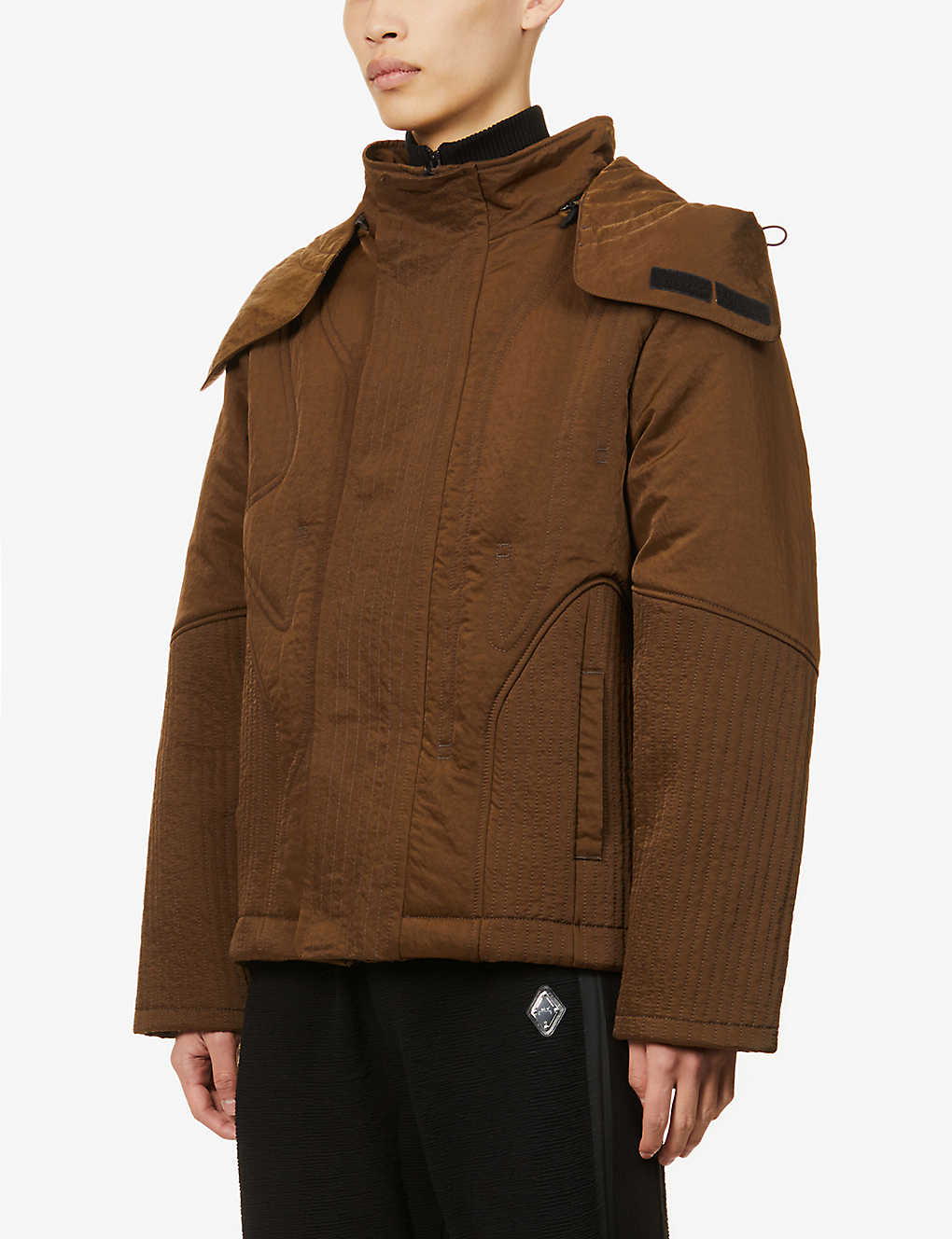 A-COLD-WALL: Quilted boxy-fit hooded shell jacket