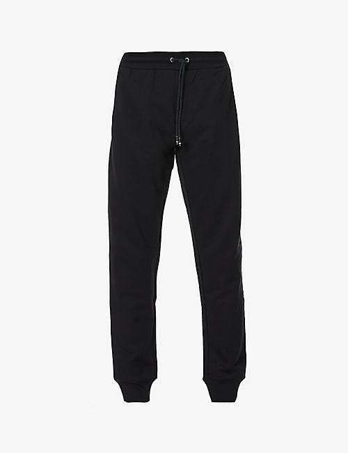 TOMMY HILFIGER: Logo-embroidered cotton-jersey jogging bottoms