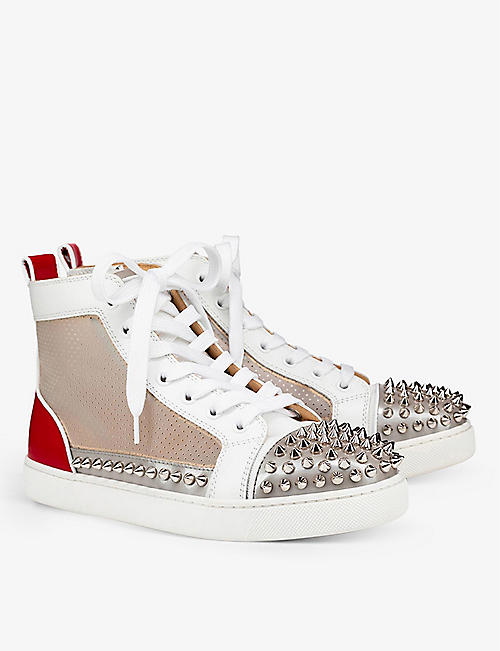 CHRISTIAN LOUBOUTIN: SoSexy spikes donna flat vet met/mesh ch