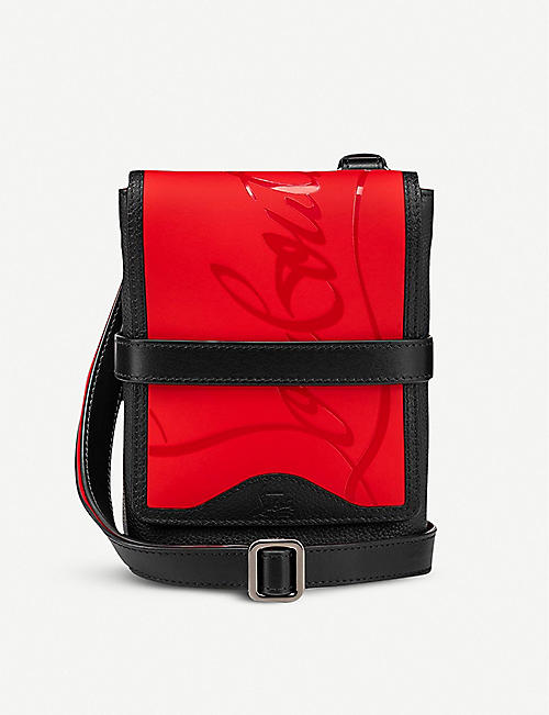 CHRISTIAN LOUBOUTIN: Benech Reporter leather cross-body bag