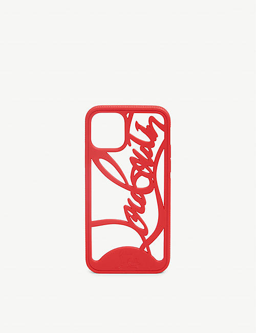 CHRISTIAN LOUBOUTIN: Logo phone case iPhone 11 Pro