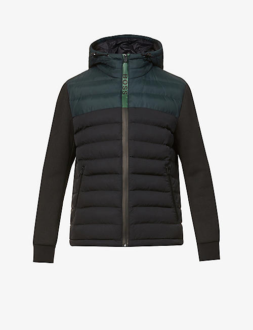 BOSS: Quilted padded shell jacket