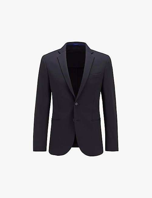 BOSS: Single-breasted slim-fit stretch-woven blazer