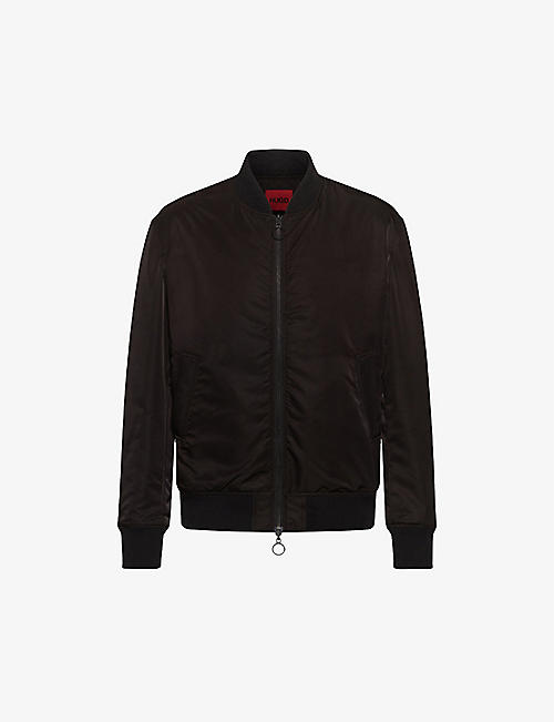 HUGO: Recycled-textile bomber jacket