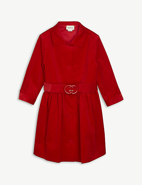 GUCCI: Belted corduroy dress 4-12 years