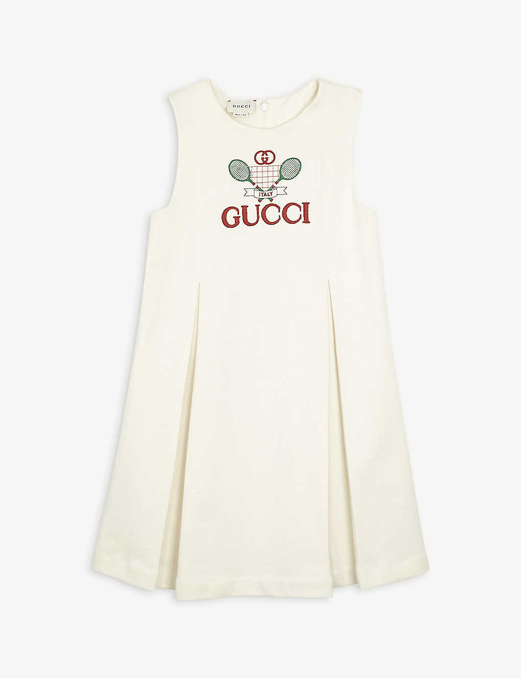 GUCCI: Tennis-logo cotton dress 4-10 years