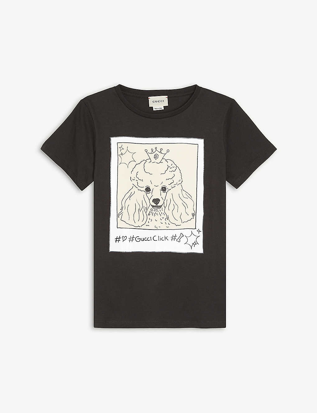 GUCCI: Gucci Click poodle-print cotton T-shirt 4-12 years