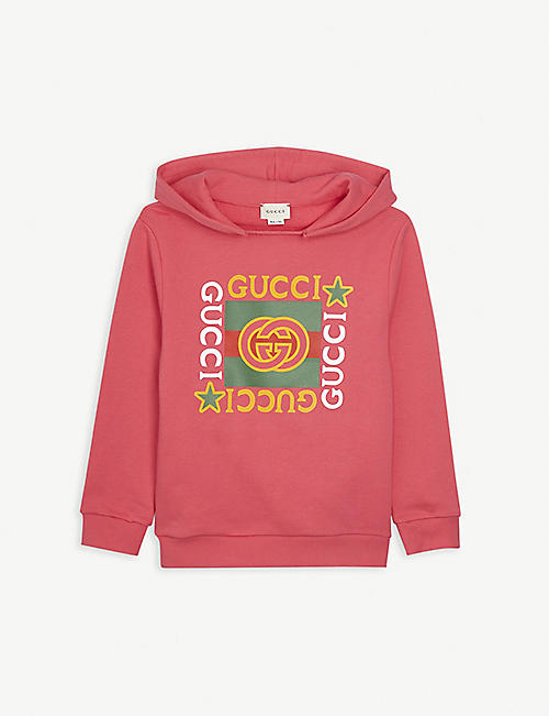 GUCCI: GG-insignia cotton hoody 4-10 years