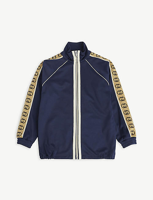 GUCCI: Logo-tape woven jacket 4-12 years