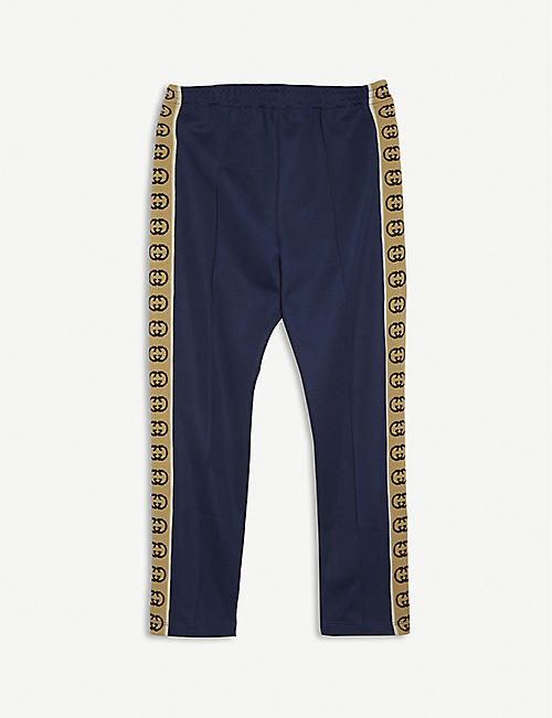 GUCCI: GG-tape jersey jogging bottoms 4-12 years