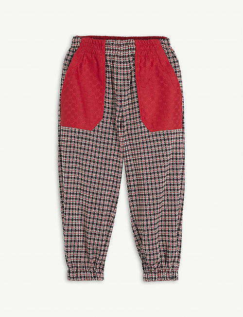 GUCCI: Checked cotton jogging bottoms 4 years