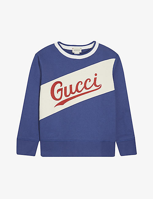 GUCCI: Branded cotton sweatshirt 4-12 years