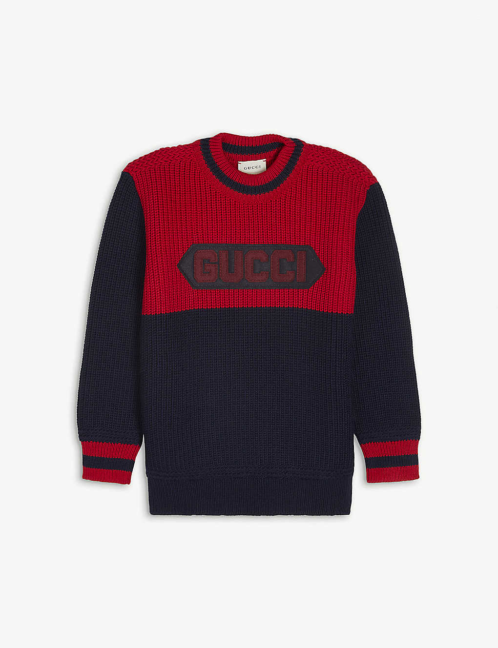 GUCCI: Branded wool-knit jumper 4-12 years