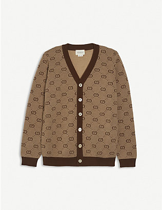 GUCCI: GG branded wool-blend cardigan 4-12 years