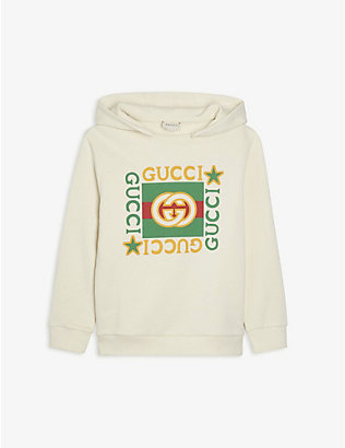 GUCCI: Branded cotton hoody 4-10 years