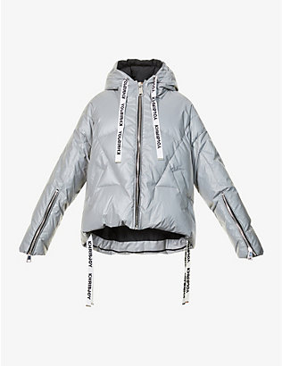KHRISJOY: Reflective padded shell-down jacket