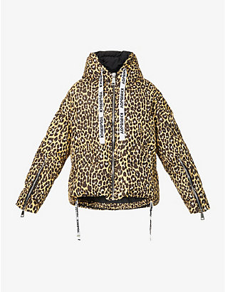 KHRISJOY: Animal-print padded shell-down jacket