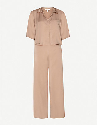 LUNYA: Notch-lapel silk pyjamas set