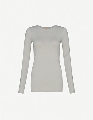 LUNYA: Restore long-sleeved cotton-blend pyjama top