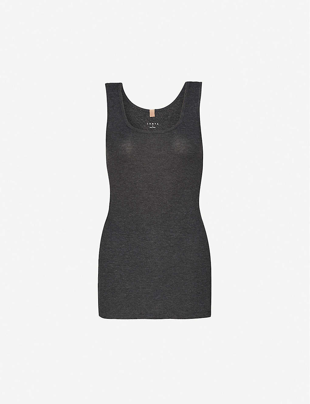 LUNYA: Restore sleeveless cotton-blend pyjama top