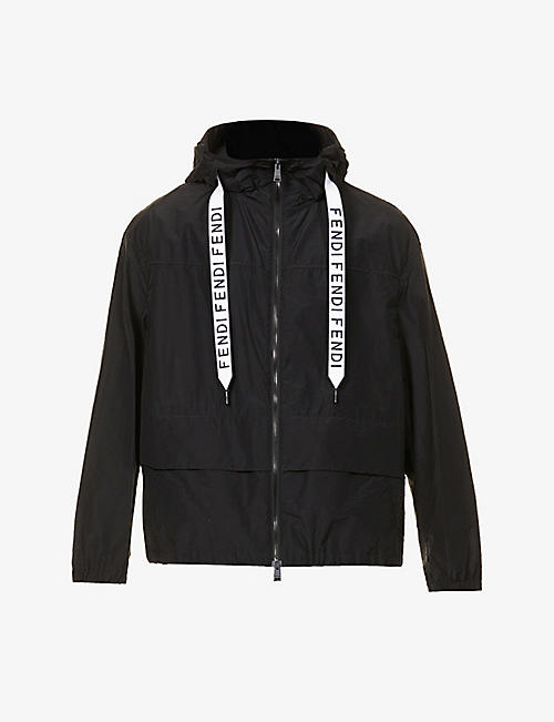 FENDI: Logo-print shell jacket