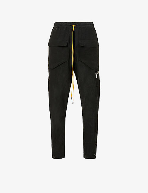 RHUDE: Drawstring-waistband relaxed-fit woven trousers