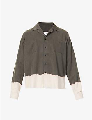 RHUDE: Bleached boxy-fit woven shirt