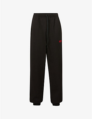 424: Logo-embroidered cotton-jersey jogging bottoms