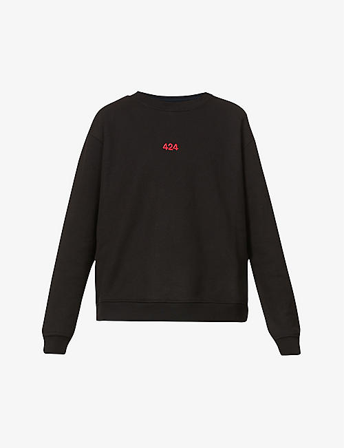 424: Branded cotton-jersey sweatshirt