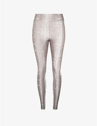 KORAL: Drive snake-print high-rise stretch-jersey leggings