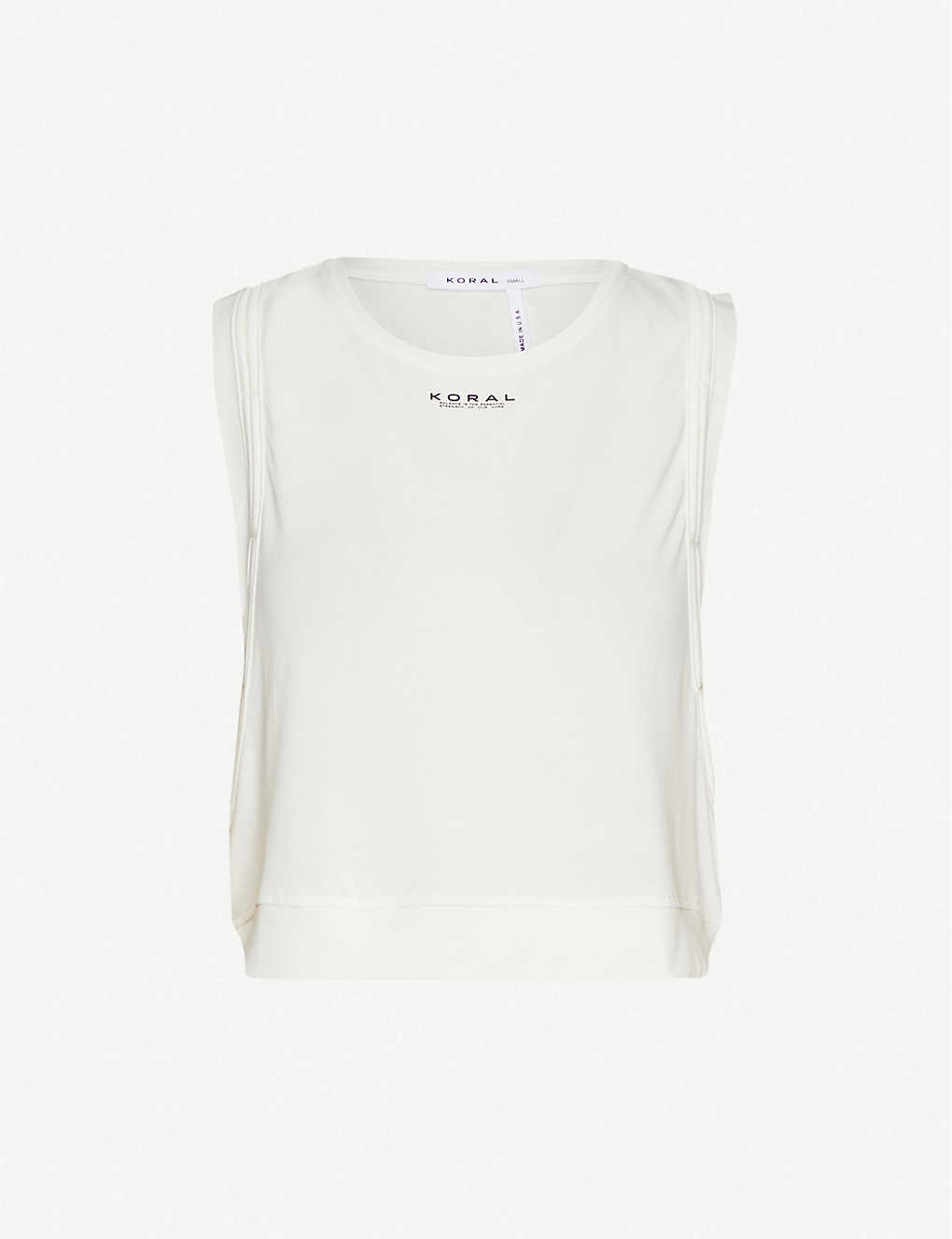 KORAL: Cut sleeveless stretch-jersey top